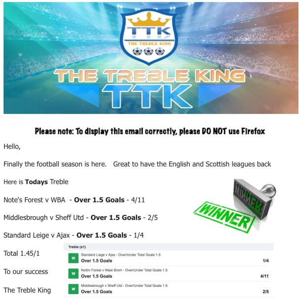 The Treble King - Football Betting Tips & Accumulators